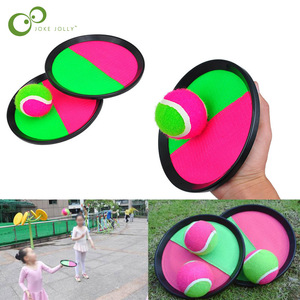 1Set Kids Sucker Sticky Ball Toy Outdoor Sports Catch Ball Game Set Throw And Catch Parent-Child Interactive Outdoor Toys ZXH(China)