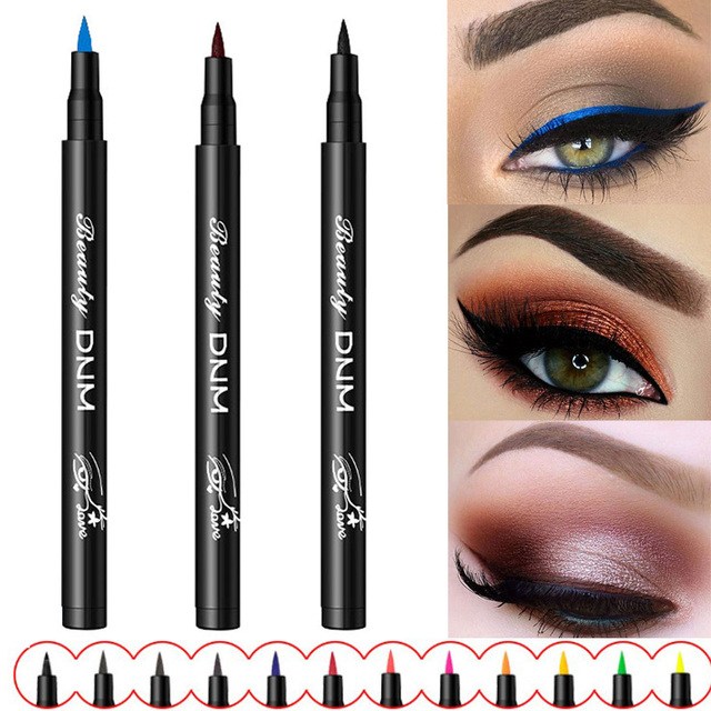 Waterproof Liquid Eyeliner Pencil Make Up Eye Liner Black Blue Red Green Brown Matte Liners Smudge-Proof Eyes Makeup TSLM2
