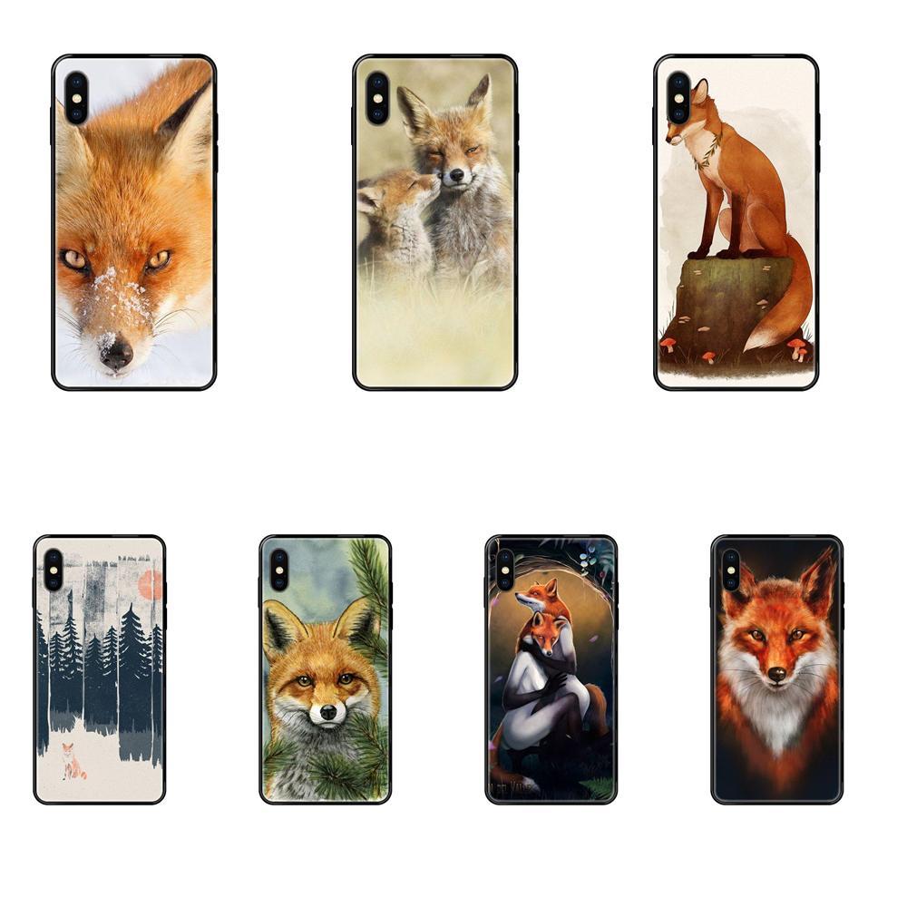 For Apple iPhone 11 12 Pro 5 5S SE 5C 6 6S 7 8 X XR XS Plus Max Soft TPU Case Capa Cover A Fox In The Wild Red Fox
