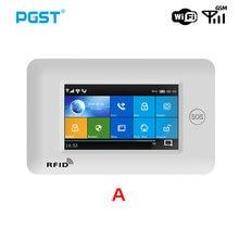 Pgst wifi gsm sistema de alarme 433mhz toda a tela toque sem fio do assaltante casa segurança controle app com controle remoto rfid