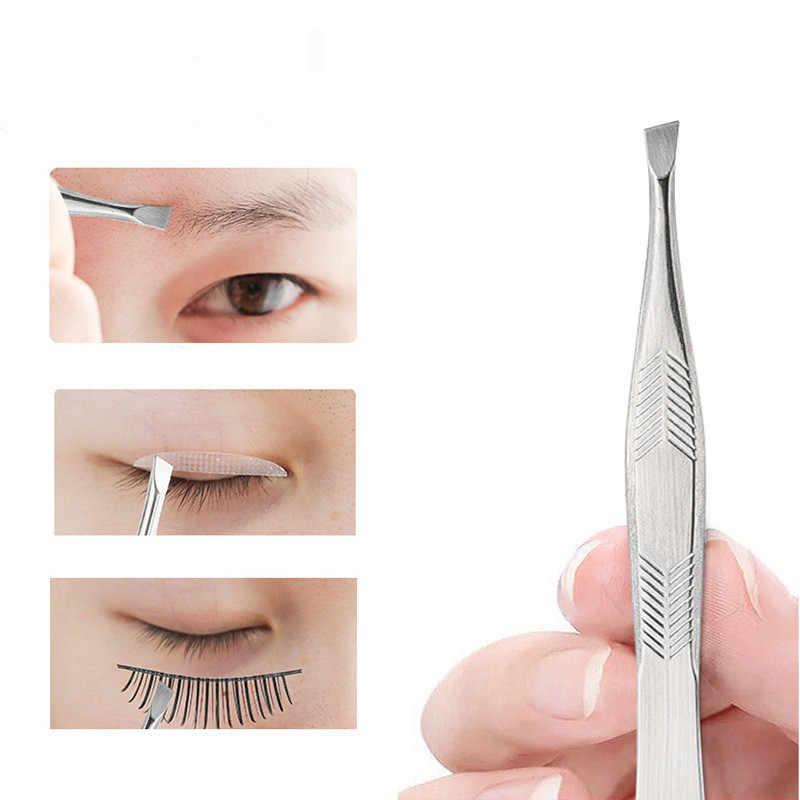 Profissional de aço inoxidável remoção do cabelo clipe sobrancelha rosto removedor de cabelo pinças ferramenta de maquiagem pinset