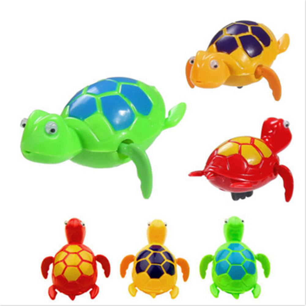 Baby Bath Toys Kids Toddler Children Family Toy Chain Turtle Swim Pool Bathroom Zabawki Do Kapieli Organizador Juguetes Infantil