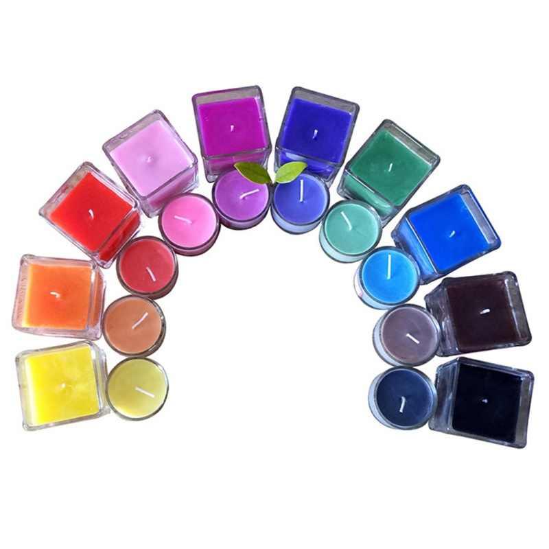 8-10 г свеча ручной работы материал 10 цветной пигмент для свечки окрашивающие свечи принадлежности DIY Свечи краски для соевого воска свеча масло