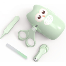 Newborn Baby Nail Trimmer Baby Nail Care Set Kids Safe Portable Nail Clipper Scissor File Tweezer With Box Children Manicure Kit