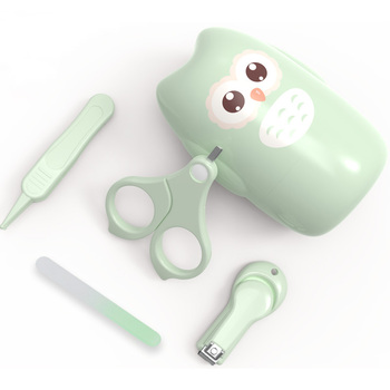 Set de cortauñas para bebés recién nacidos, Kit de cuidado de uñas para bebés, tijeras de uñas portátiles seguras para niños, pinza de archivo, Kits de higiene para bebés de viaje