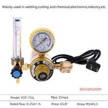 Co2 Pressure Regulator Carbon Dioxide Reducer Electric Heating Heated Gauge 220V