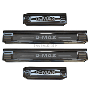 Image 1 - For Isuzu D MAX DMAX 2018 2019 2020 Stainless  Door Sill Scuff Plate Kick Guard Pedal Threshold Protector Car Accessories