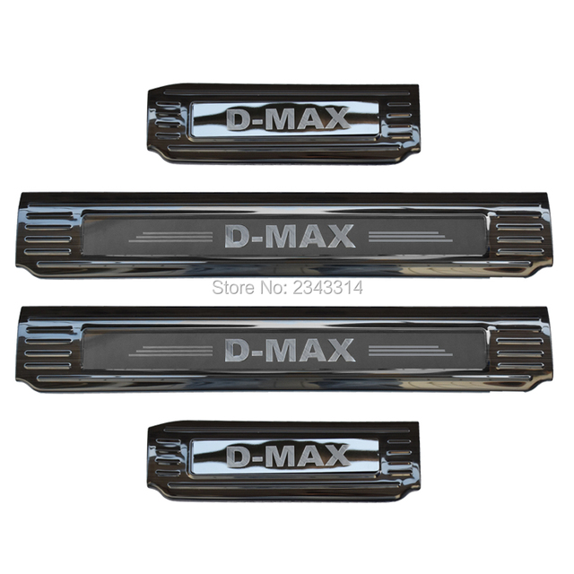 For Isuzu D MAX DMAX 2018 2019 2020 Stainless  Door Sill Scuff Plate Kick Guard Pedal Threshold Protector Car Accessories