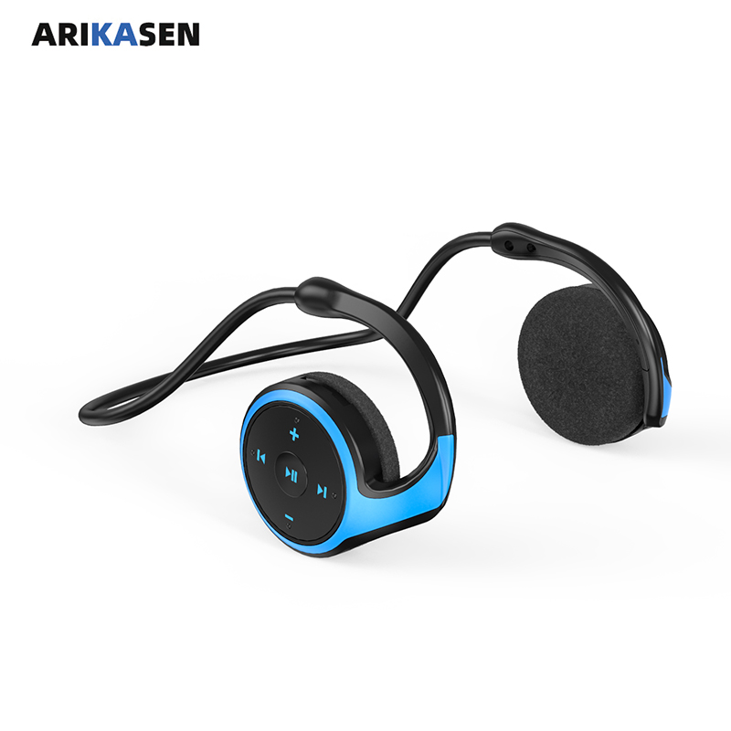 2020 New Sport Bluetooth Headphone with MP3 player FM radio mic 10 hours music Wireless Headset TF Card Bass Stereo Earphones