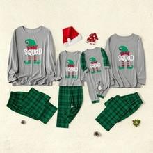 2020 Family Christmas Sleepwear Plaid Matching Pajamas Cloth