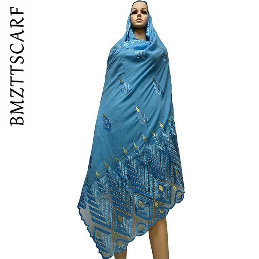 Image 4 - 높은 품질시 폰 스카프 mulim 여성 자 수 쉬폰 스플 라이스 얇은 명주 그물 소재 shawls에 대 한 큰 크기 스카프 BM742여성용 스카프   -