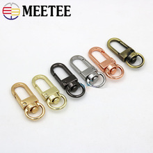 Meetee 20/50pcs 10mm Metal Dog Buckle Spring Snap Clasp Hook Key DIY Bag Chain Decor Hang Buckles Hardware Leather Accessories