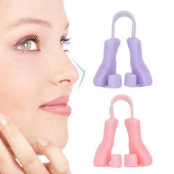 Silicone Portable Nose Up Lifting Clips Nose Bridge Shaping Beauty Clip (Pink+Purple) Anti Snoring Good For Sleeping Tools