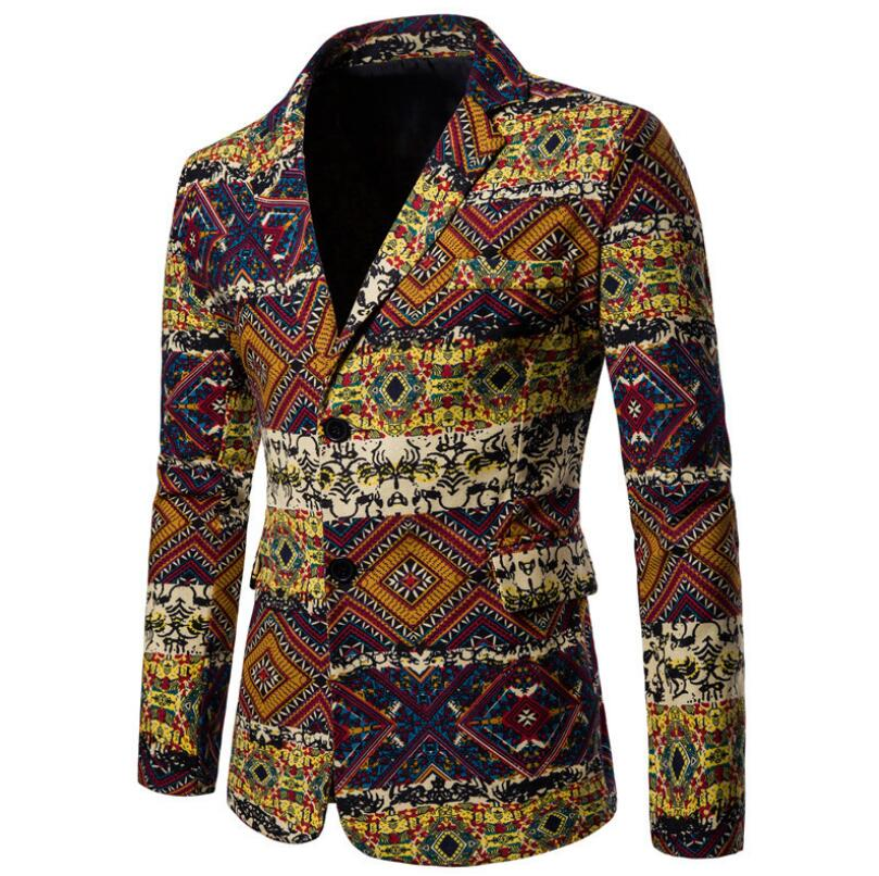 Men's Suit Winter New Christmas Elements Fashion With Dynamic Men's Suit