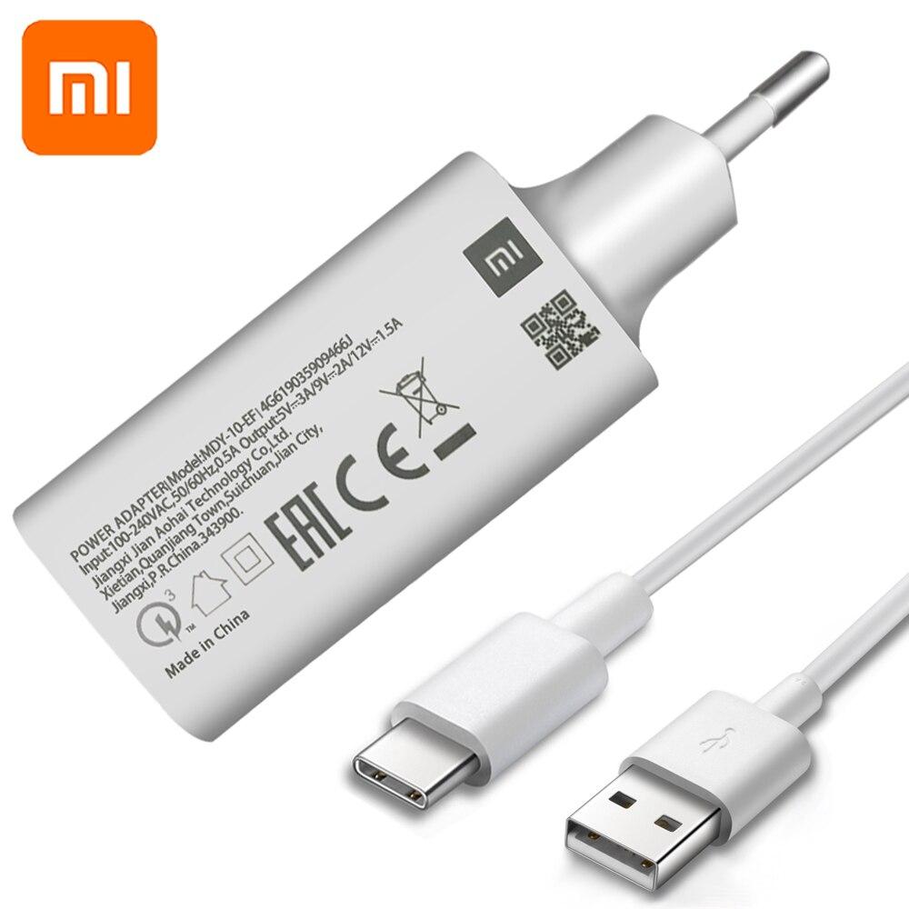 Original mi 9SE QC3.0 Schnelle USB Wand Ladegerät mi cro Usb und Typ C Kabel Quick Charge für mi 9 8 SE CC9 A3 mi x Red mi Hinweis 7 6 5 4