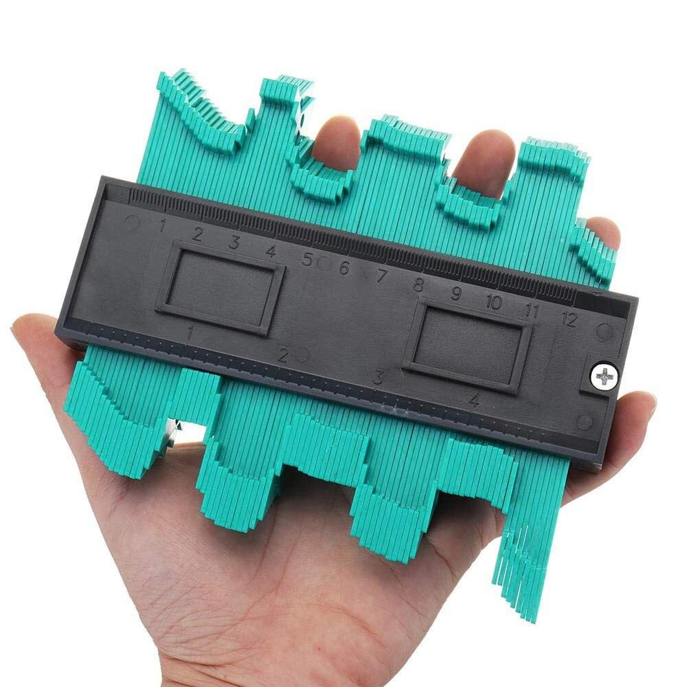 5/10 Inch Contour Gauge Plastic Contour Replicator Standard Woodcut Tool Tile Laminate For Corner And Contour Measurement #20