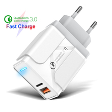 PINZHENG 36W Fast USB Charger Quick Charge 3.0 Type C PD Fast Charging For iPhone 11 Pro Max Samsung Xiaomi Type C USB Charger ugreen 36w fast usb charger quick charge 4 0 3 0 type c pd fast charging for iphone 11 usb charger with qc 4 0 3 0 phone charger