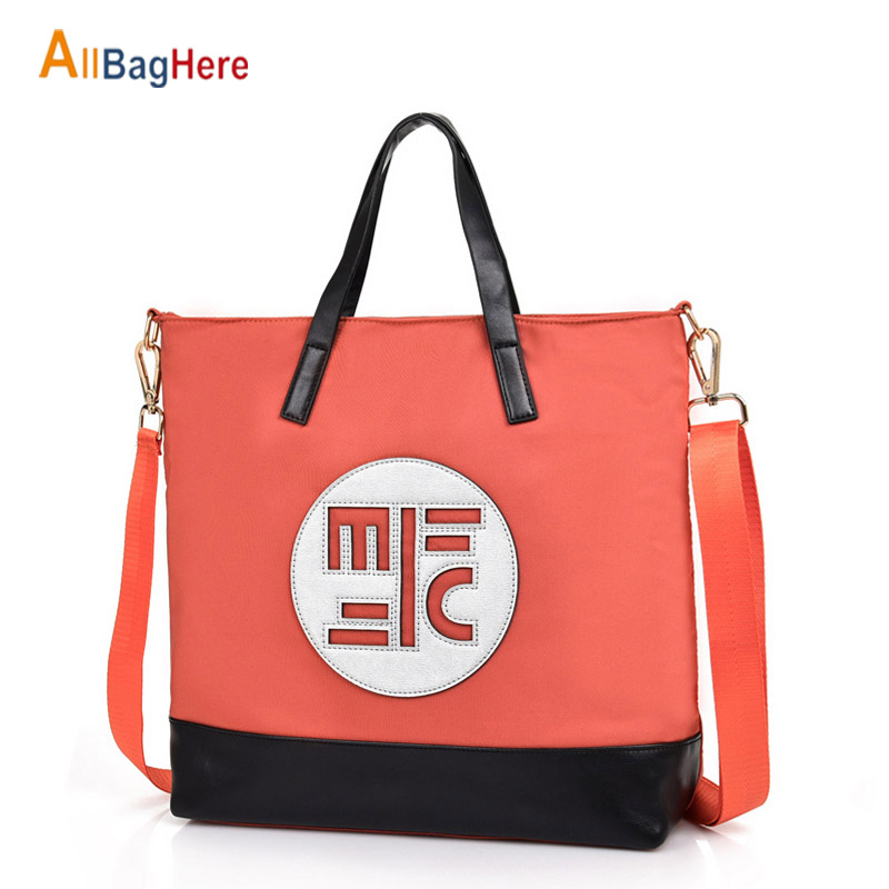Women Large Capacity Handbags New Fashion Nylon Waterproof Shoulder Bag Shopping Travel Casual Tote Crossbody City Bags For Girl