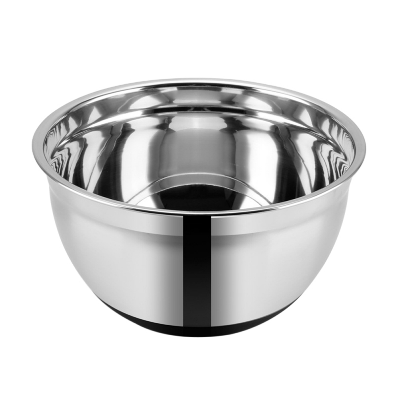 Stainless Steel Mixing Bowls Non Slip Silicone Bottom Whisking Bowls Mixing Bowls For Salad Cooking Baking Tools Accessories