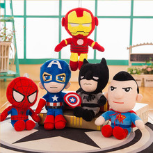 1pc 30cm The Avengers Plush Soft Stuffed Super Hero Captain America Iron Man Spiderman Toys Movie Dolls for Kids Birthday Gift the avengers super hero plush toys doll 25cm spiderman iron man batman captain america superman plush soft stuffed toys gifts