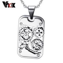 Vnox Fashion Steampunk Machine Pendants Jewelry Stainless Steel Gear Design Men Pendants&Necklaces Jewelry Cool