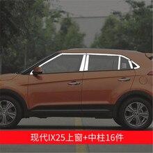 Нержавеющая сталь, двери, окна, оконные наличники, накладка, Накладка для hyundai ix25, автомобильный Стайлинг, быстрая