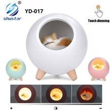 Светодиодный ночник novely приглушаемая лампа в виде кошки с
