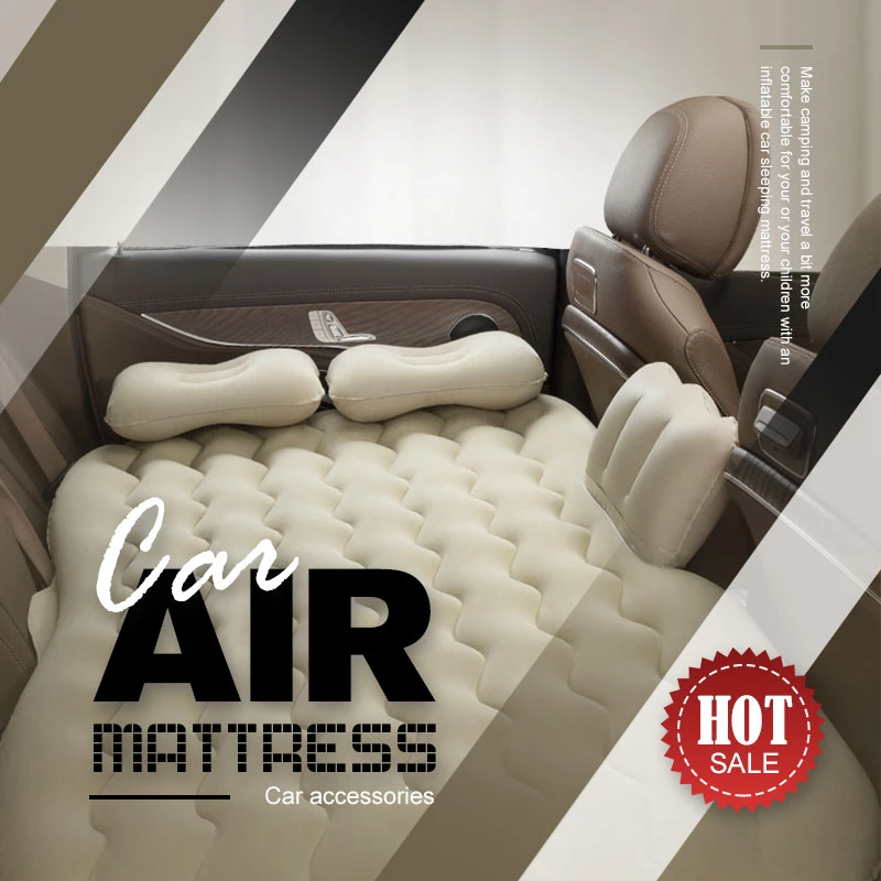 Car Air Mattress Car Inflatable Bed Back Seat Mattress Airbed for Rest Sleep Travel Camping Inflatable Sofa Cushion Car Accessor