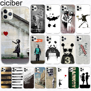 ciciber phone Case For iPhone 11 Case Cover for Iphone XR 11 Pro XS Max 7 X 8 6 6S Plus 5S SE Art Banksy Silicone Coque Funda(China)