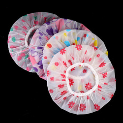 Bonnet de bain élastique pour femmes, imperméable, de haute qualité, pour Salon de coiffure, épais, produits de salle de bain, imprimé avec nœud en forme de cœur
