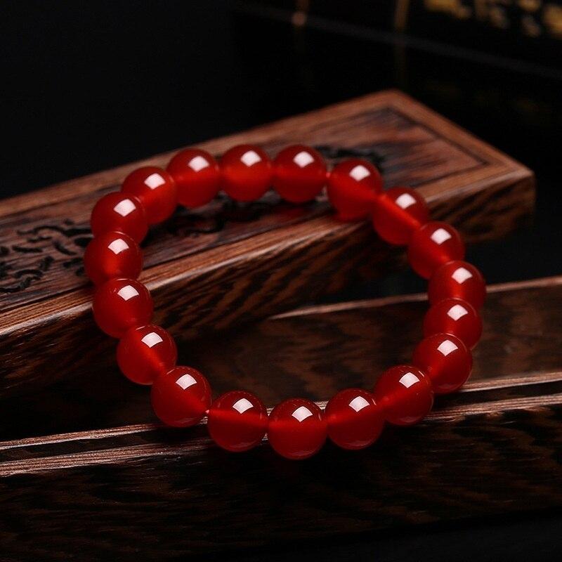 Оптовая продажа красный агат модные подарки, обувь для мужчин и женщин стиль браслеты, натуральный красный агат браслет