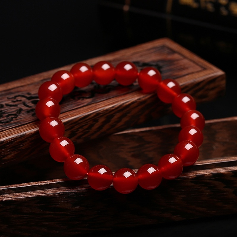 Wholesale Red Agate Fashion Gifts, Men And Women Style Hand String, Natural Red Agate Bracelet