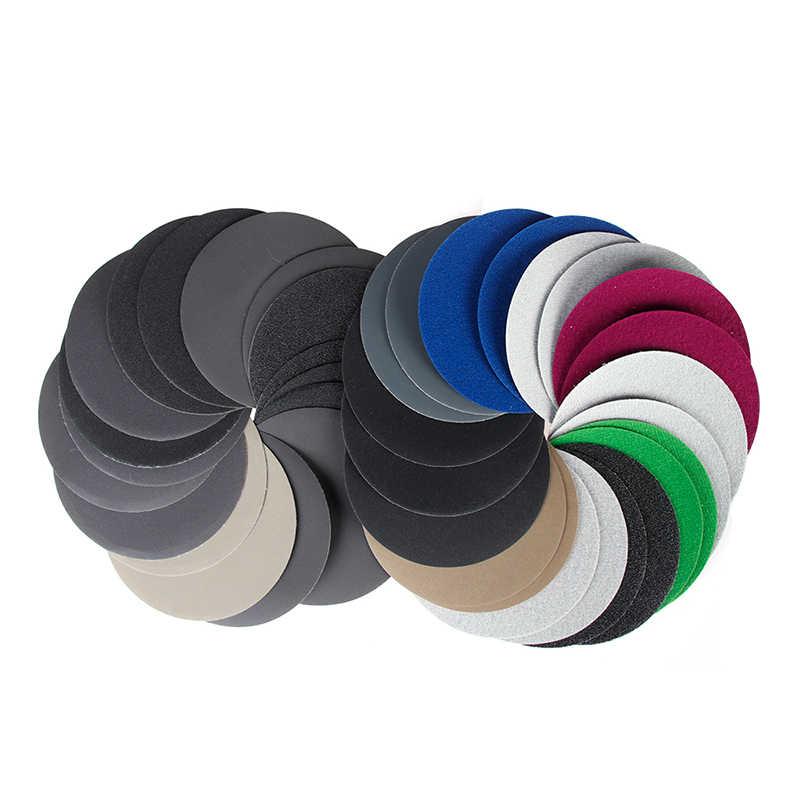 5 sztuk 5 Cal (125mm) do mokrego/suchego okrągłego papier ścierny z węglika krzemu Hook & Loop wodoodporne tarcze szlifierskie