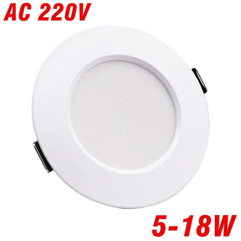 LED Downlight Ceiling Light 5W 7W 9W 12W 15W AC 220V 230V 240V Led Downlight Cold  Warm White Led Light For Living Room