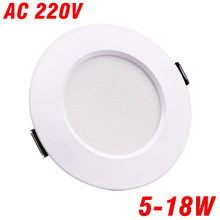 LED Downlight Ceiling light 5W 7W 9W 12W 15W AC 220V 230V 240V led downlight Cold Warm white led light for living room(China)