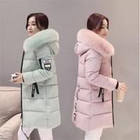 Парка, пальто, Женское зимнее пальто, длинное хлопковое повседневное хлопковое пальто с капюшоном, женское плотное теплое зимнее пальто, Же...