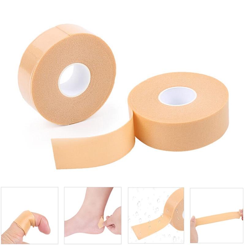 1Roll Anti-Wear Foam Heel Sticker Tape Cotton Patch Foot Care Blister Plaster Waterproof First Aid Blister Pedicure Pad
