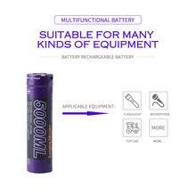Batterie dordinateur portable 8 pièces litre batterie dénergie USB 5000ML Li ion batterie rechargeable USB 18650 3500mAh 3.7V Li ion batterie + fil USB