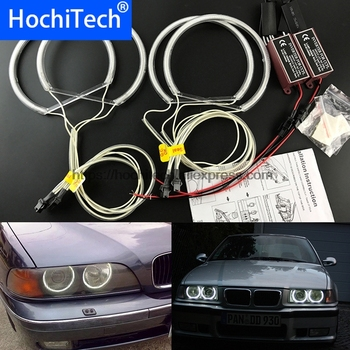 HochiTech For BMW E36 E38 E39 E46 3 5 7 Series Xenon Headlight WHITE 6000K CCFL Headlight Halo Angel Eyes Kit angel eyes light image