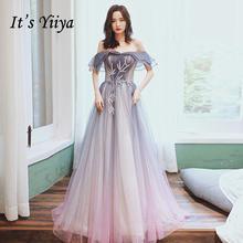 Вечерние платья с открытыми плечами it's yiiya торжественное