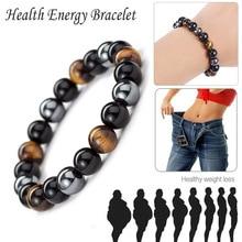1pc Magnetic Tiger Eye Hematite Stone Bead Couple Bracelet Health Care Magnet Men Women Help Weight Loss Jewelry
