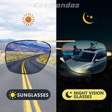 Top Square Men's Sunglasses Photochromic Polarized Sun glass