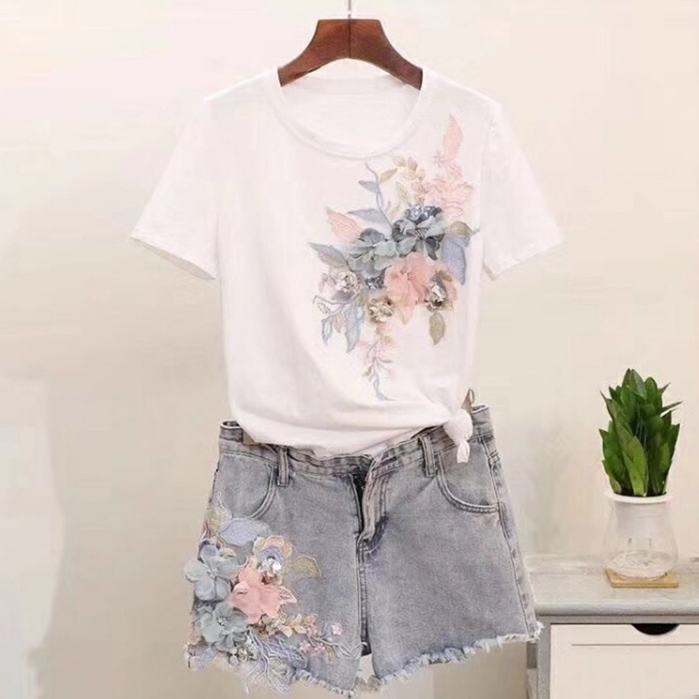 Handmade Flowers Big Cloth Stickers T-shirt Decoration Personality Diy Hat Pants Clothing Accessories Fashion Casual Temperament