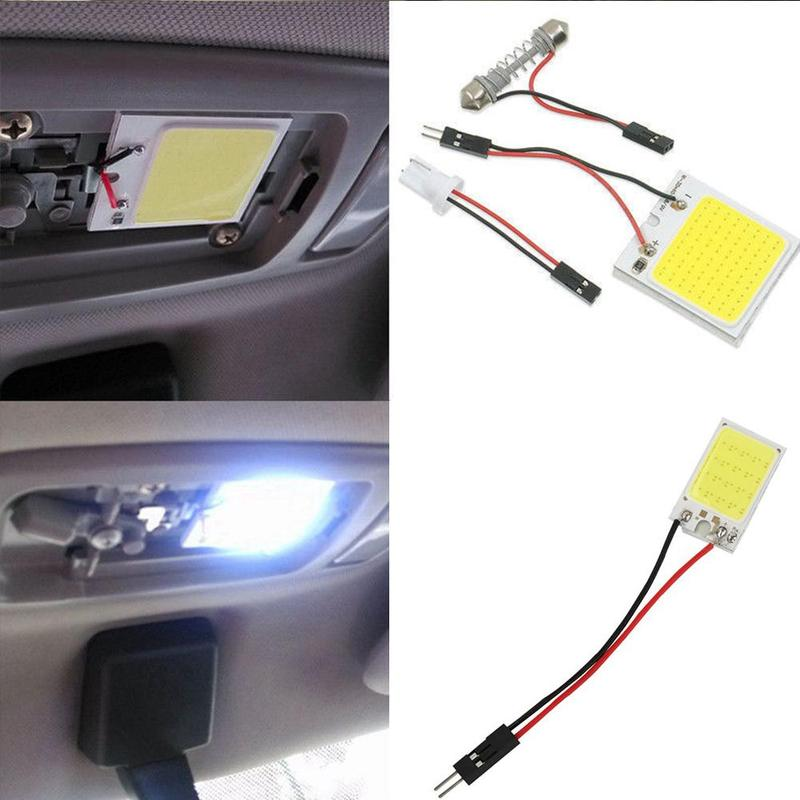High Quality T10 COB <font><b>16</b></font> 24 36 48SMD White Color LED Lamps Car Reading Parking Bulb Super Bright Automobile Interior Panel Light image
