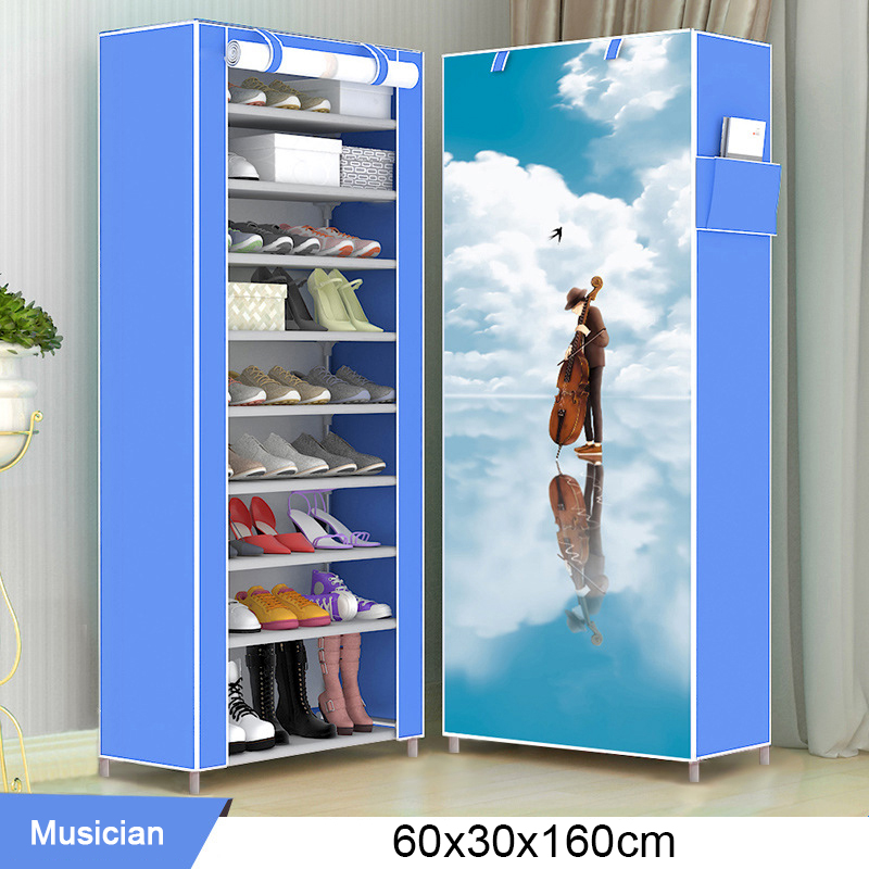 New Multilayer Shoe Rack Easy assmble Shoes Storage Closet Organizer Home Furniture Space saving Nonwoven Shoe Cabinets