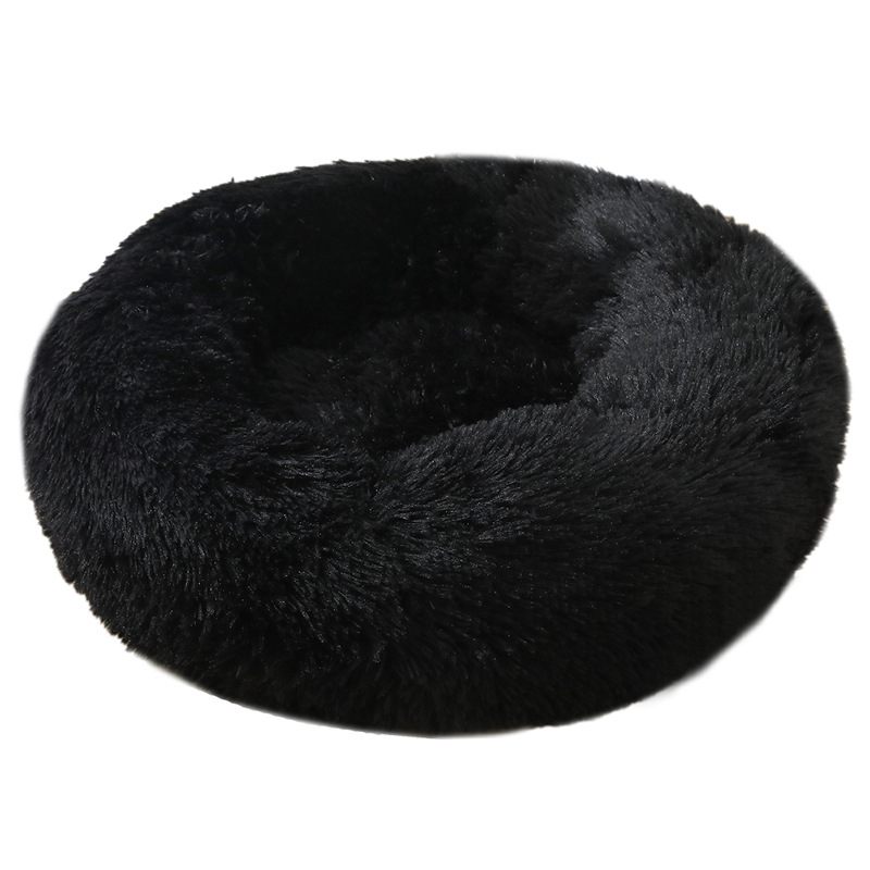 Dog Pet Bed Kennel Round Cat Bed Winter Warm Dog House Sleeping Bag Long Plush Super Soft Pet Bed Puppy Cushion Mat Cat Supplies 5