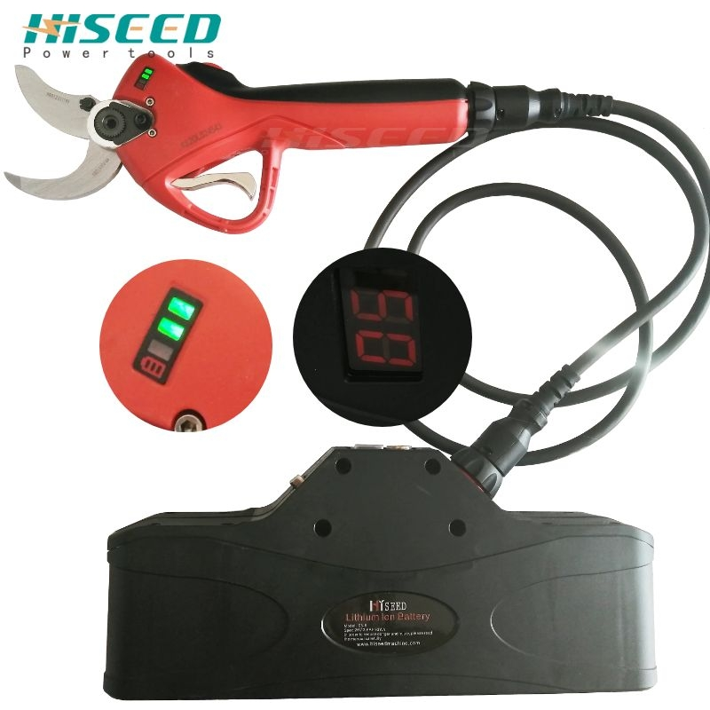 HISEED Progressive Electric Scissors Battery Tree Pruner Electric Grape Pruning Shears