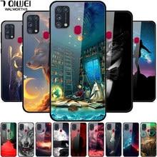 Für Samsung Galaxy M31 Fall Gehärtetes Glas Fest Telefon Abdeckung für Samsung Galaxy A21S M21 M30S Fall Stoßstange Stoßfest M 31 M315F