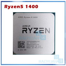 Processador amd ryzen 5 1400 r5 1400 R5-1400 ghz, cpu quad-core com soquete am4