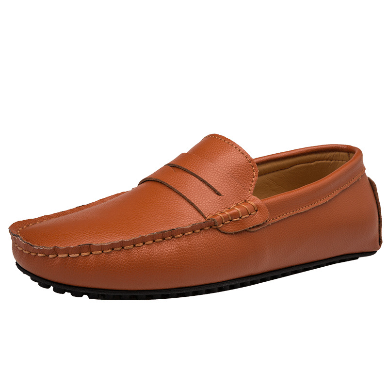 Men Moccasins Casual Leather Shoes Loafers Genuine Leather Comfortable Soft Sole Summer Drivers Shoes Tenis Masculino